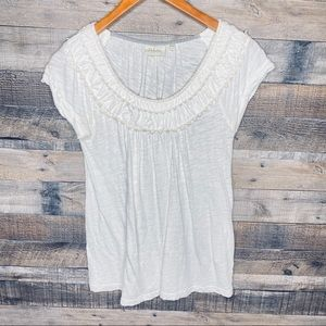 Anthropologie Deletta Short Sleeve Top Small